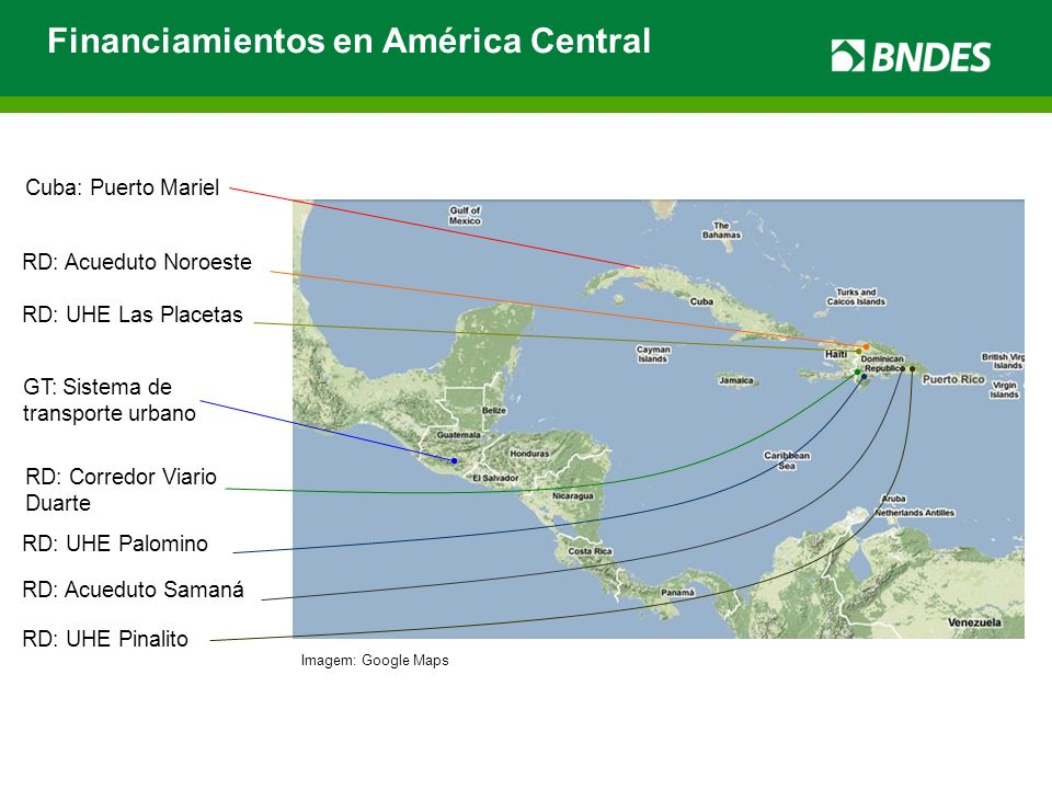 Financiamientos en América Central