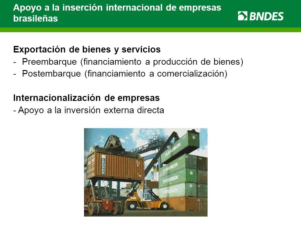 Apoyo a la inserción internacional de empresas brasileñas