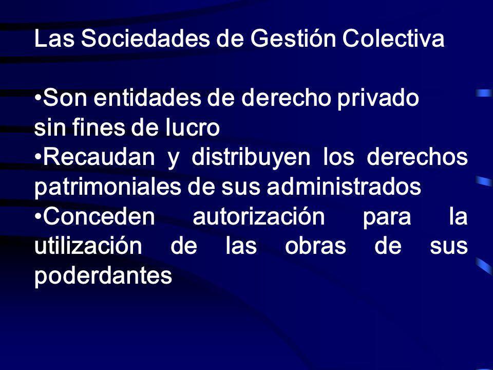 Las Sociedades de Gestión Colectiva
