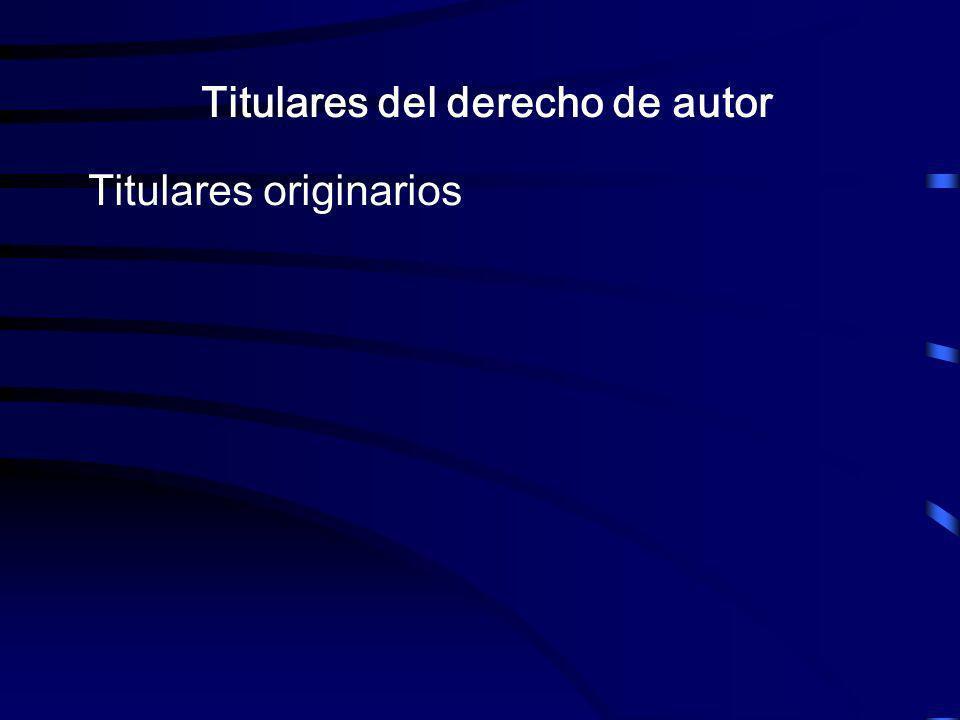 Titulares del derecho de autor