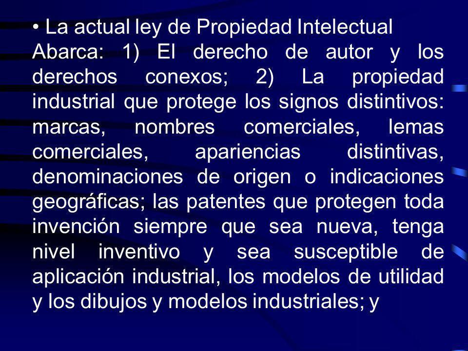 La actual ley de Propiedad Intelectual