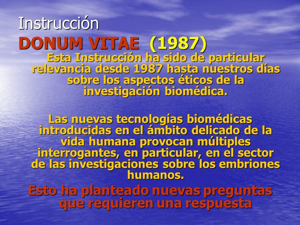Instrucción DONUM VITAE (1987)