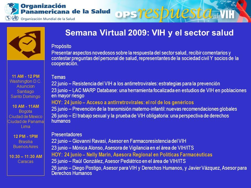 Semana Virtual 2009: VIH y el sector salud