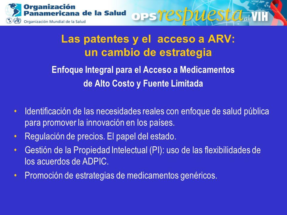 Las patentes y el acceso a ARV: un cambio de estrategia