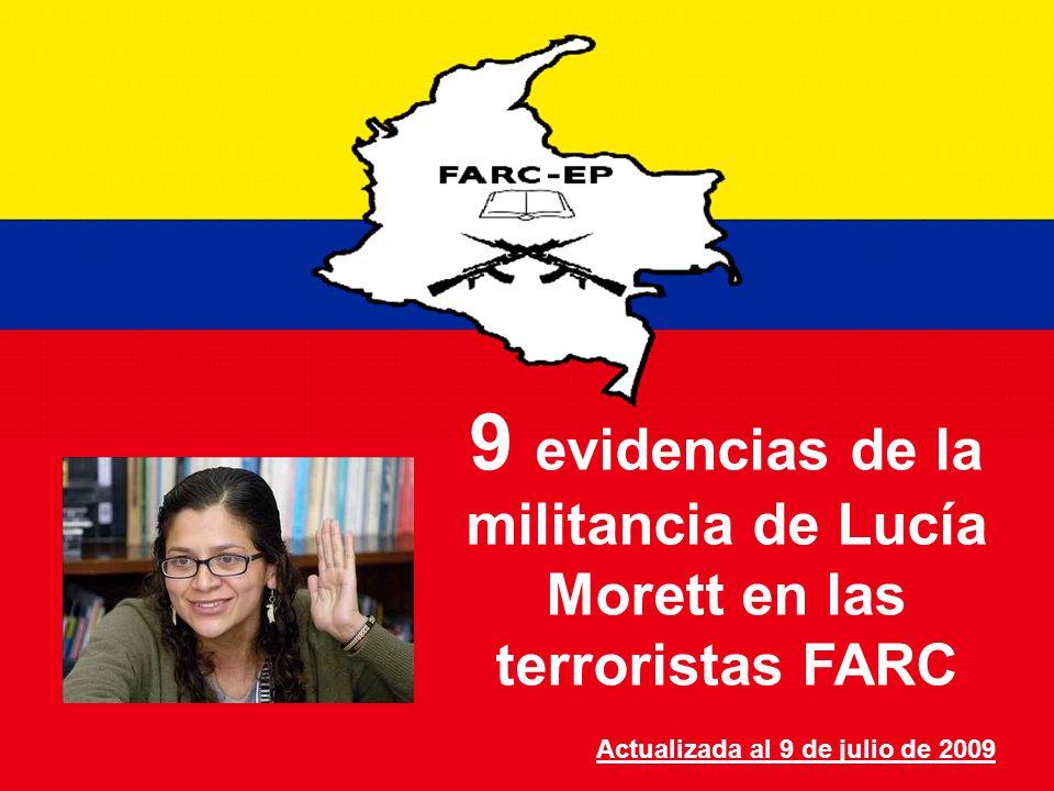9 evidencias de la militancia de Lucía Morett en las terroristas FARC