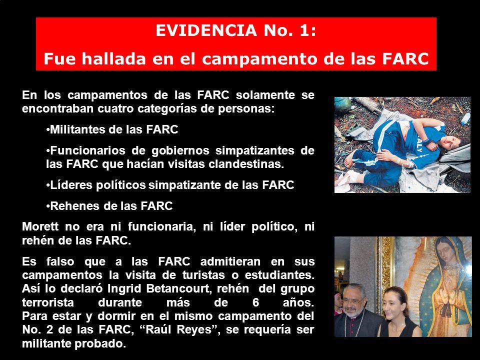 Fue hallada en el campamento de las FARC