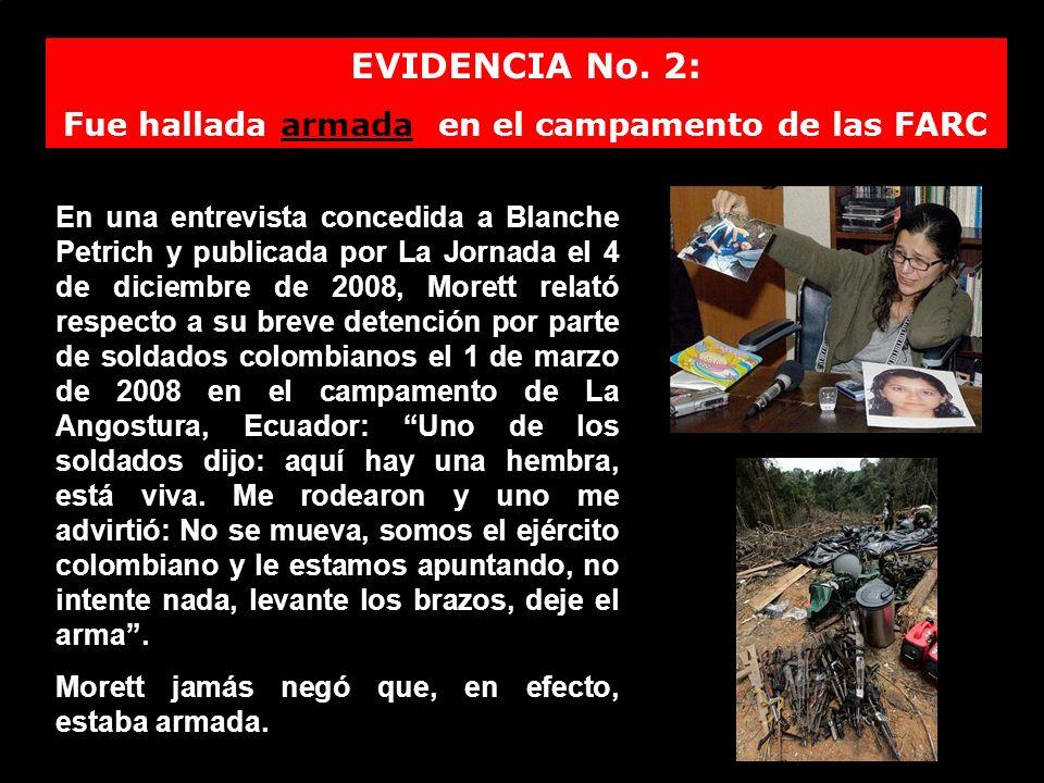 Fue hallada armada en el campamento de las FARC
