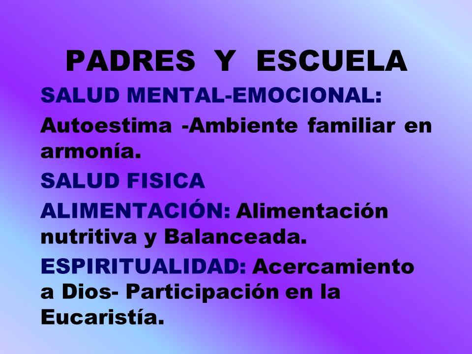 PADRES Y ESCUELA