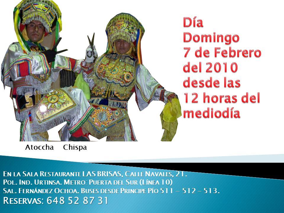 Día Domingo 7 de Febrero del 2010 desde las 12 horas del mediodía