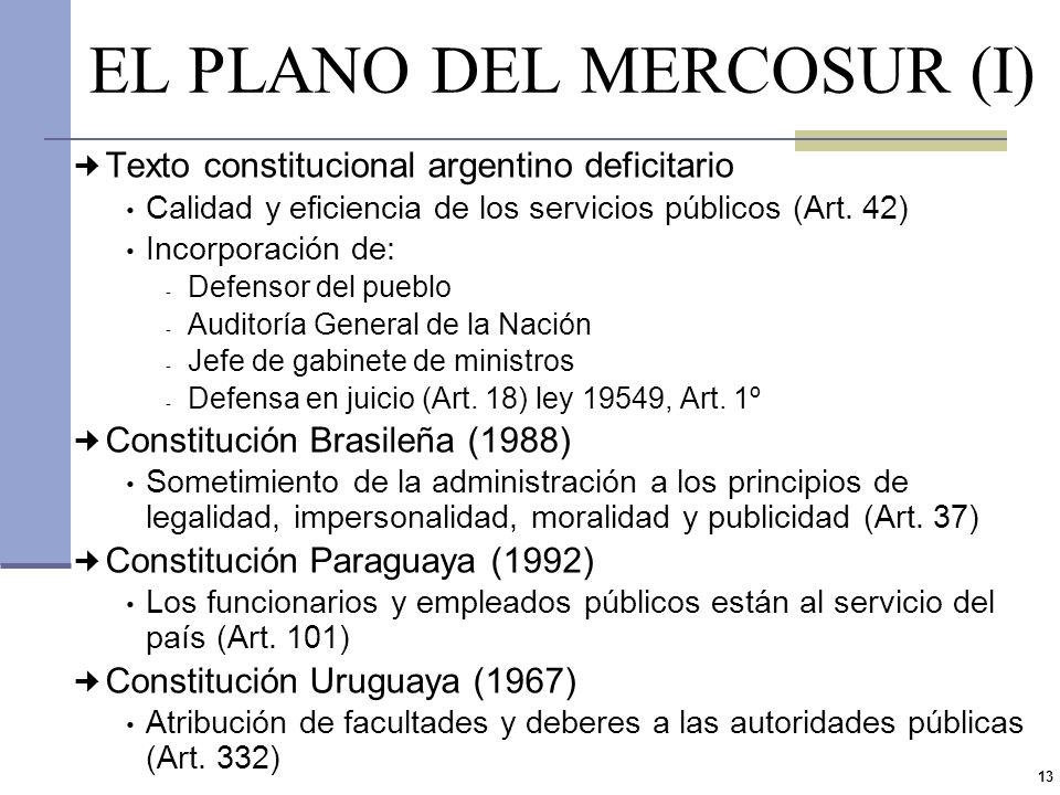 EL PLANO DEL MERCOSUR (I)