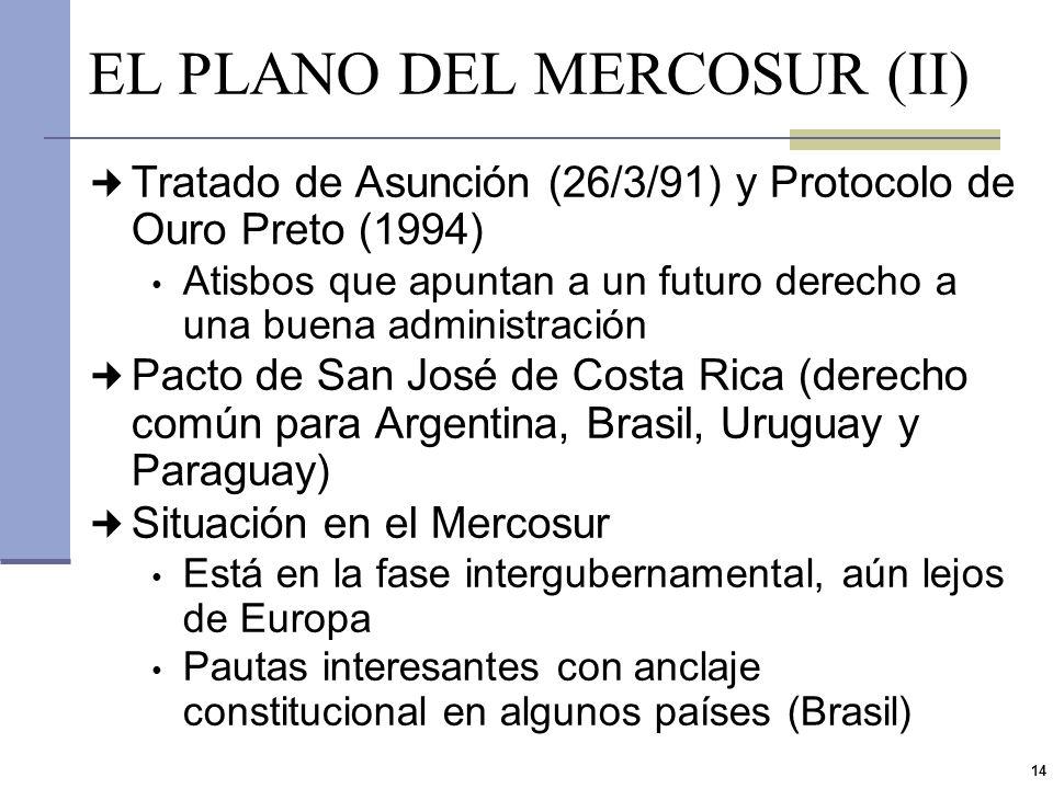EL PLANO DEL MERCOSUR (II)