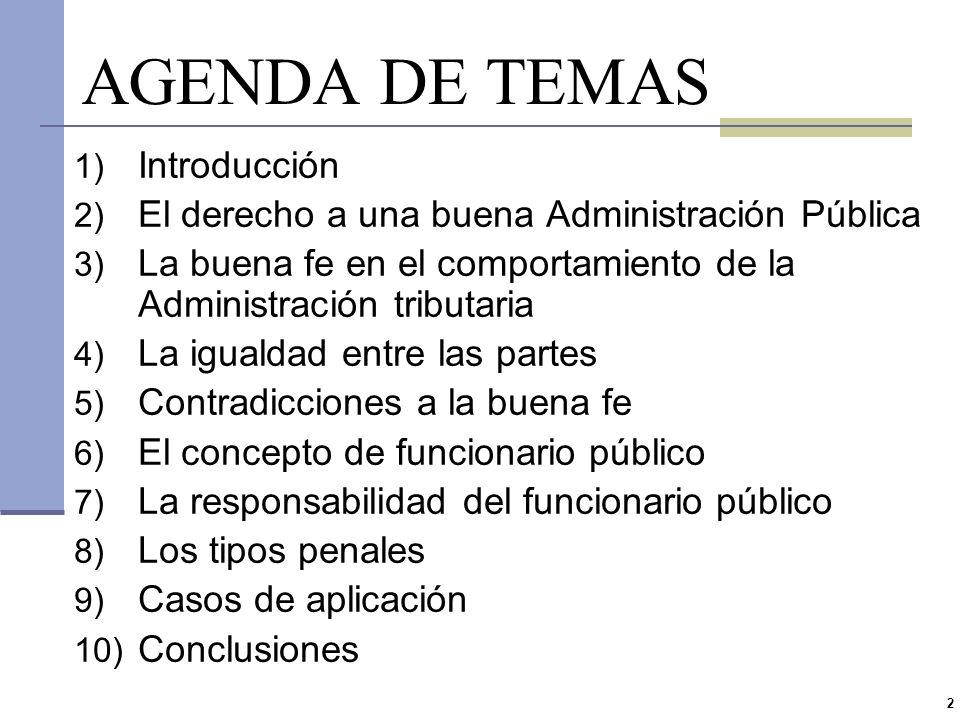 AGENDA DE TEMAS Introducción