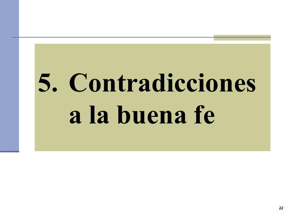 Contradicciones a la buena fe
