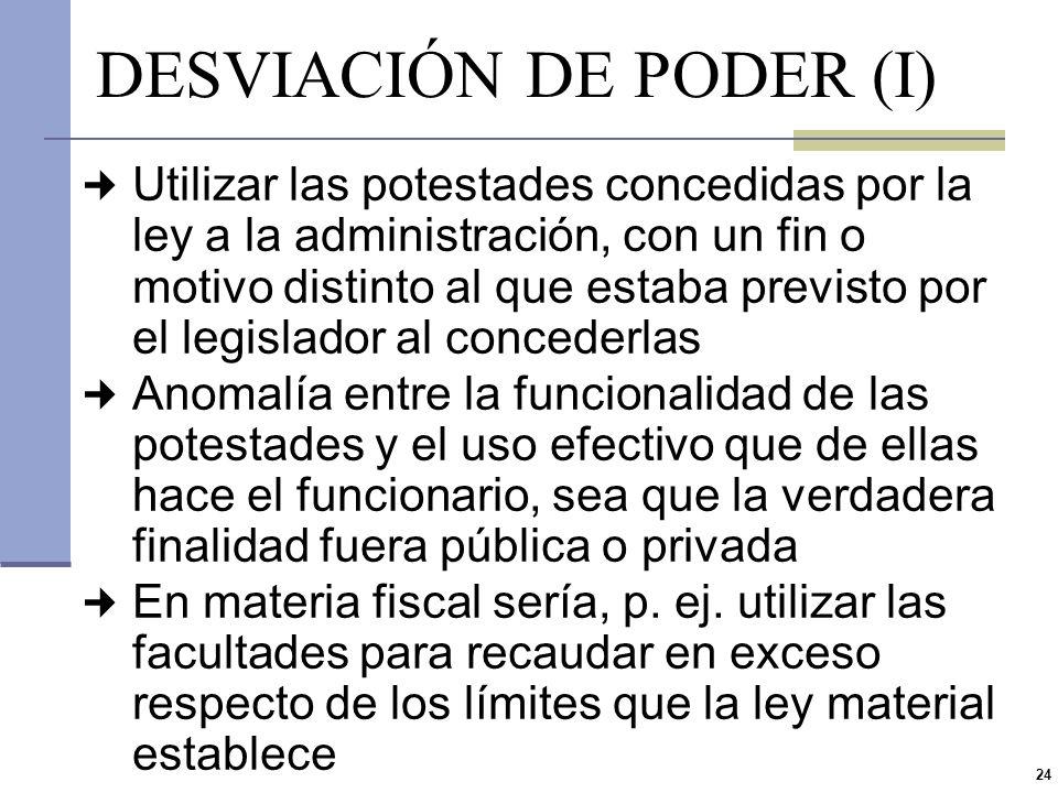 DESVIACIÓN DE PODER (I)