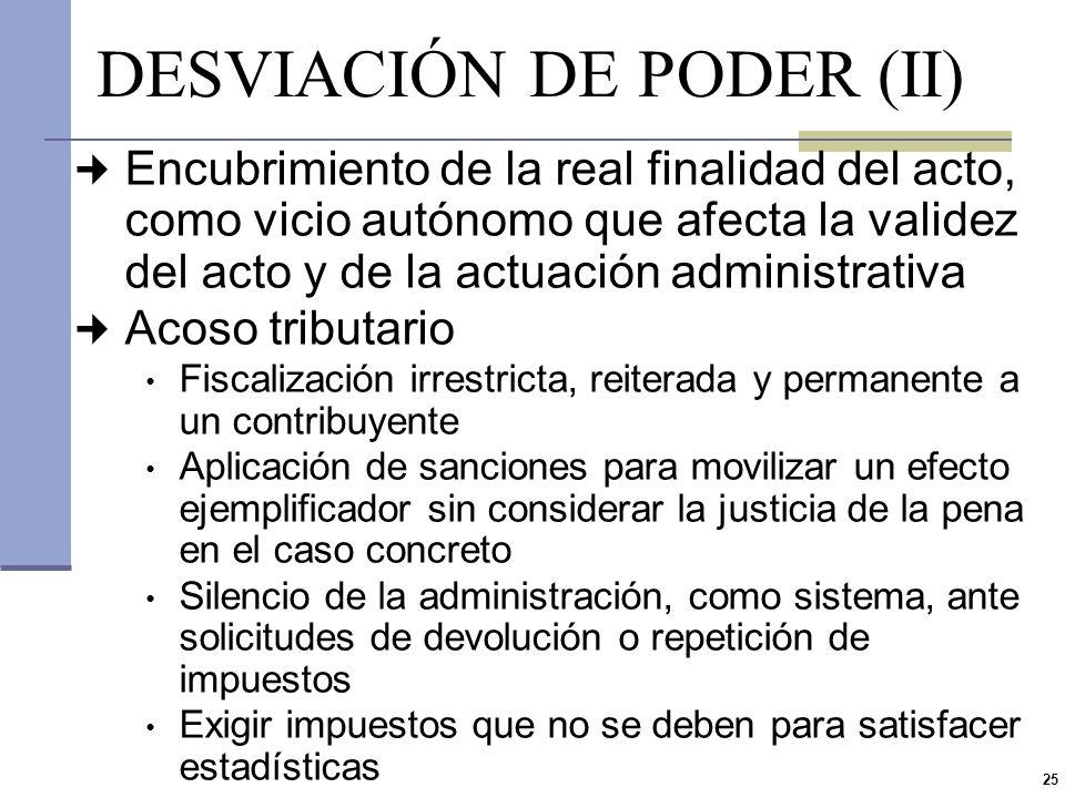 DESVIACIÓN DE PODER (II)