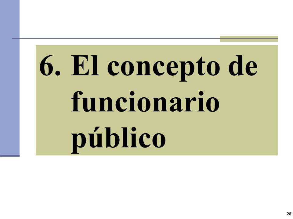 El concepto de funcionario público