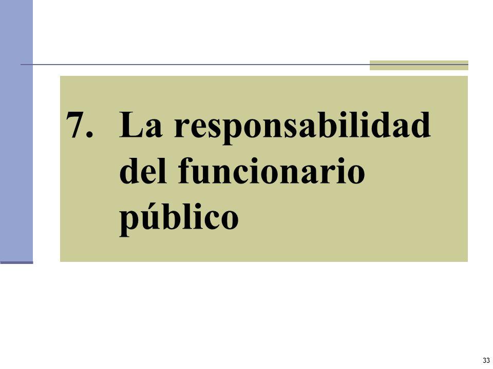 La responsabilidad del funcionario público
