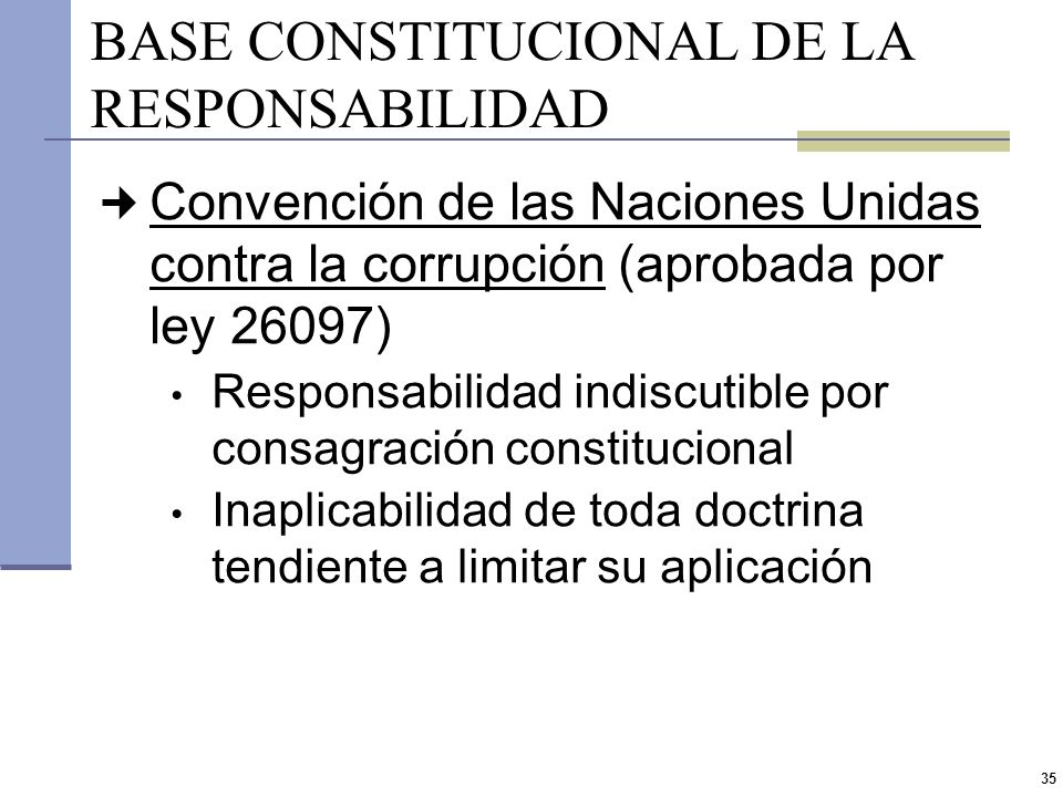 BASE CONSTITUCIONAL DE LA RESPONSABILIDAD