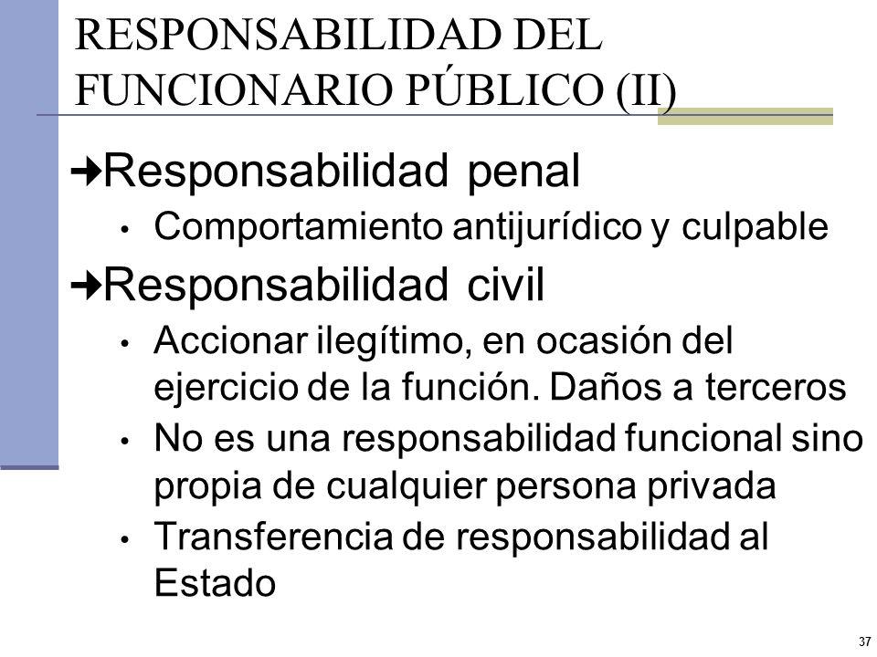 RESPONSABILIDAD DEL FUNCIONARIO PÚBLICO (II)