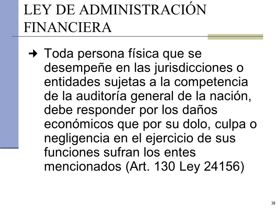 LEY DE ADMINISTRACIÓN FINANCIERA