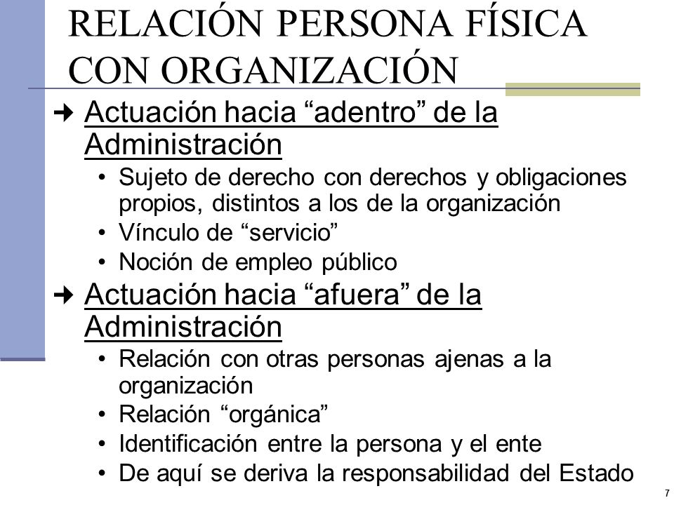 RELACIÓN PERSONA FÍSICA CON ORGANIZACIÓN