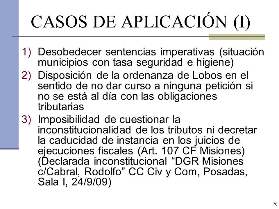 CASOS DE APLICACIÓN (I)