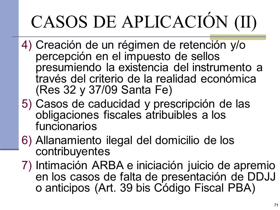 CASOS DE APLICACIÓN (II)