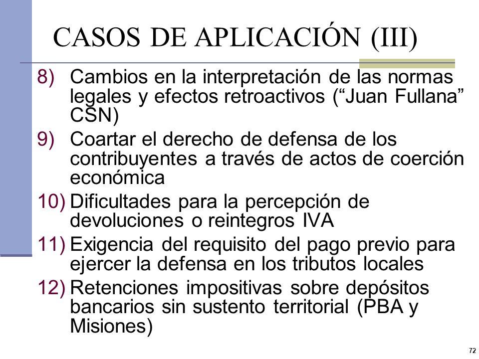 CASOS DE APLICACIÓN (III)