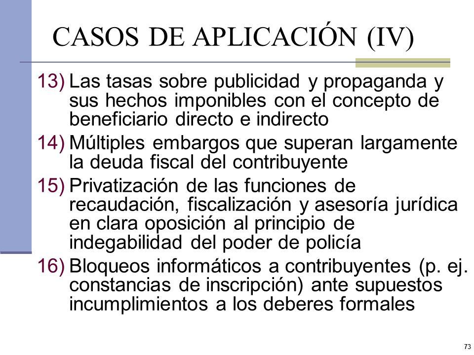 CASOS DE APLICACIÓN (IV)