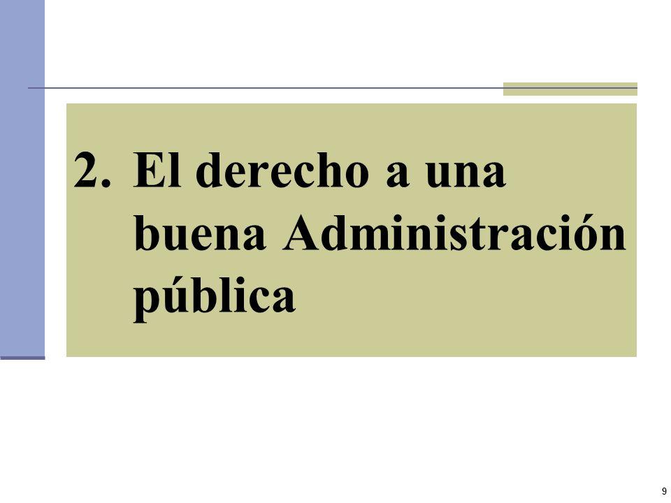El derecho a una buena Administración pública