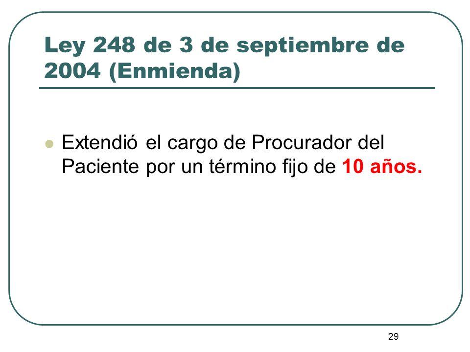 Ley 248 de 3 de septiembre de 2004 (Enmienda)