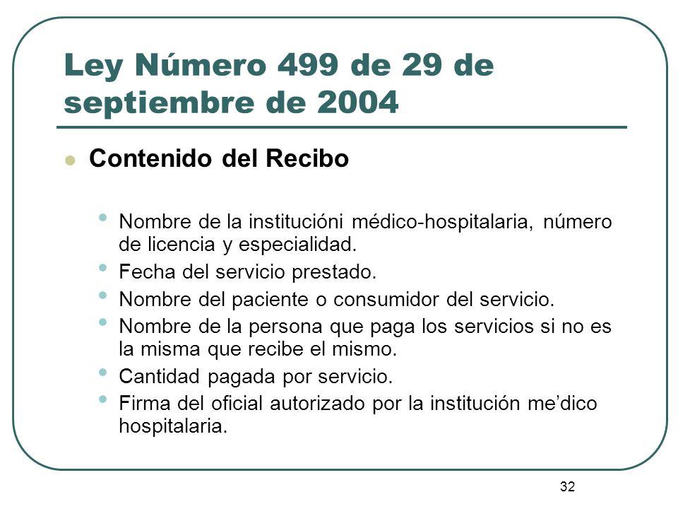 Ley Número 499 de 29 de septiembre de 2004