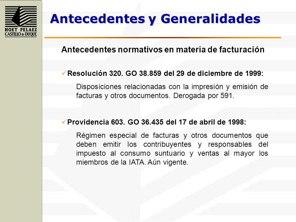 Antecedentes y Generalidades