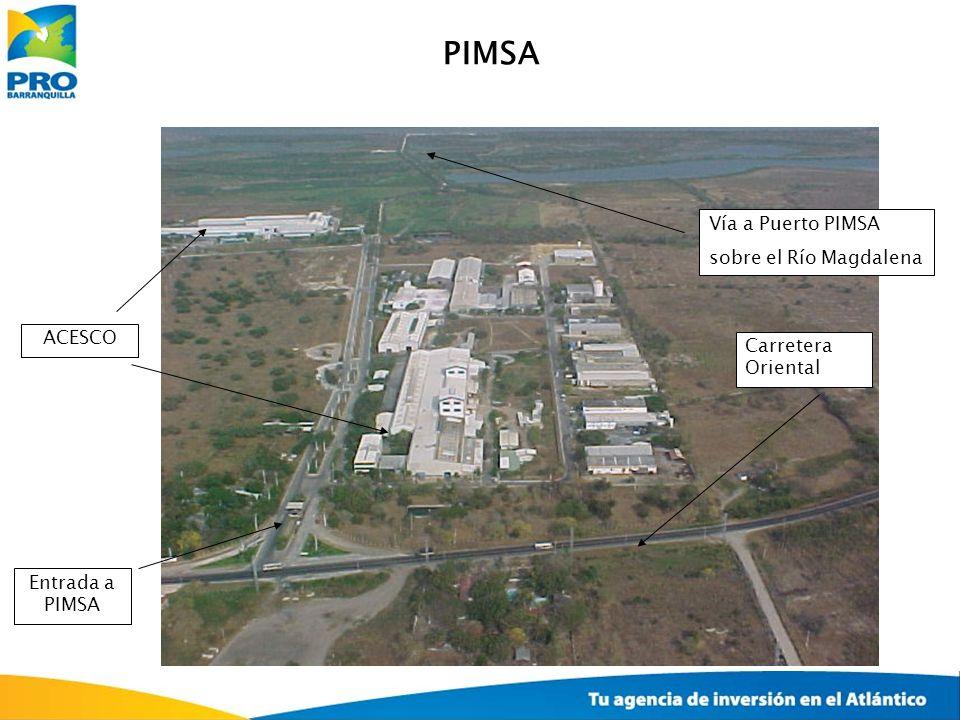 PIMSA Vía a Puerto PIMSA sobre el Río Magdalena ACESCO