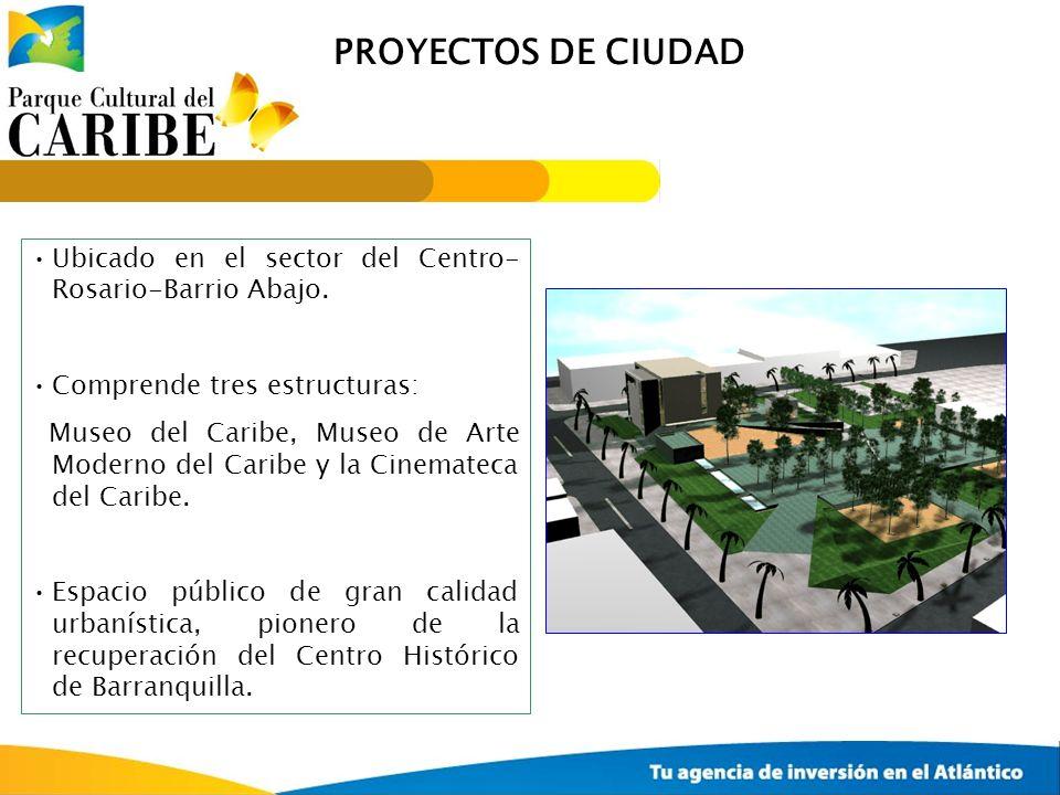 PROYECTOS DE CIUDAD Ubicado en el sector del Centro- Rosario-Barrio Abajo. Comprende tres estructuras: