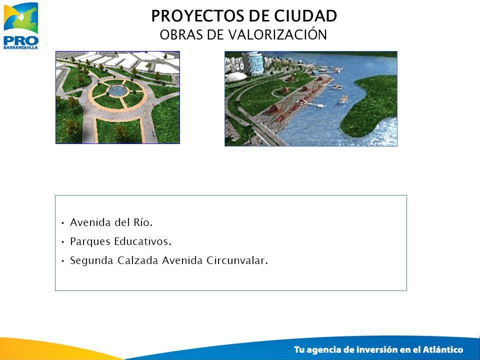PROYECTOS DE CIUDAD OBRAS DE VALORIZACIÓN Avenida del Río.