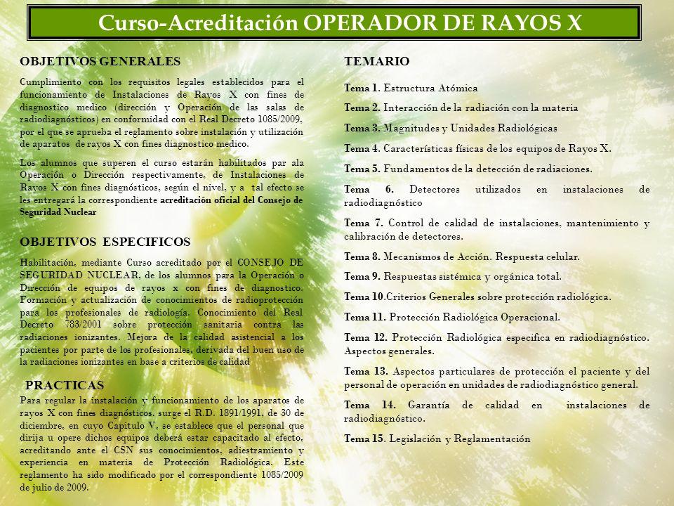 Curso-Acreditación OPERADOR DE RAYOS X