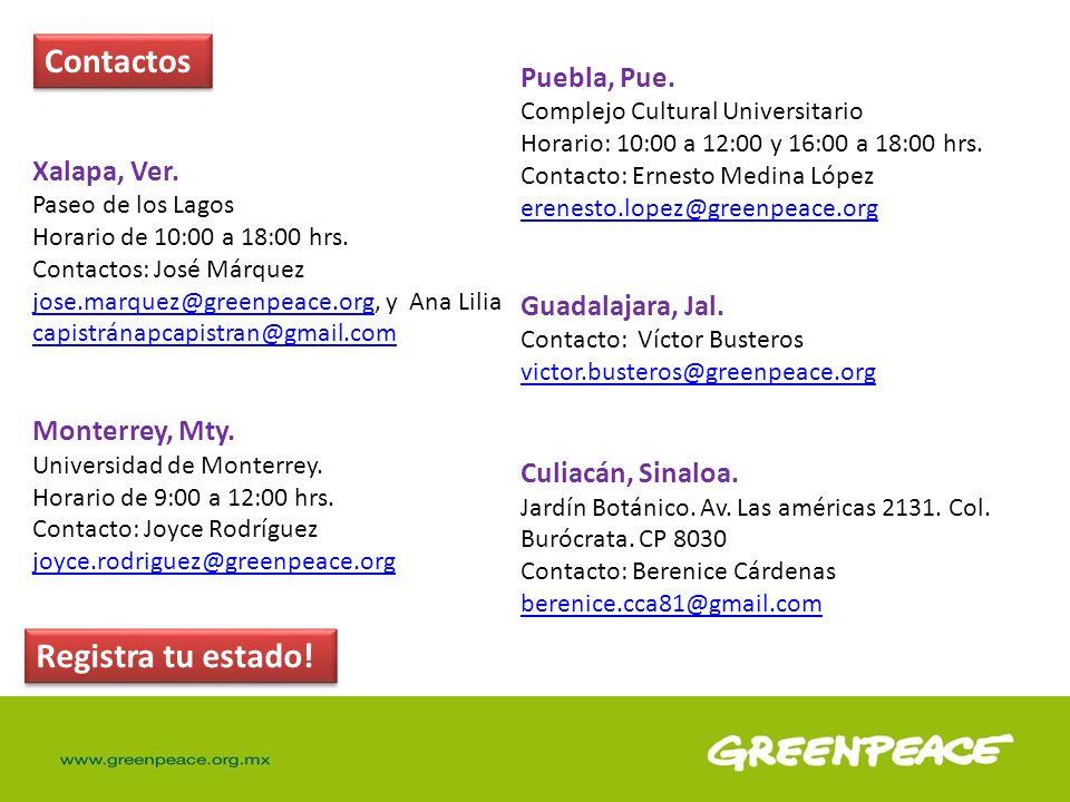 Contactos Registra tu estado! Puebla, Pue. Xalapa, Ver.
