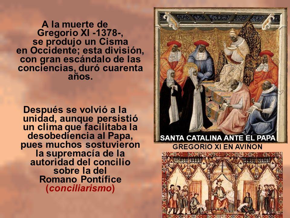SANTA CATALINA ANTE EL PAPA GREGORIO XI EN AVIÑON