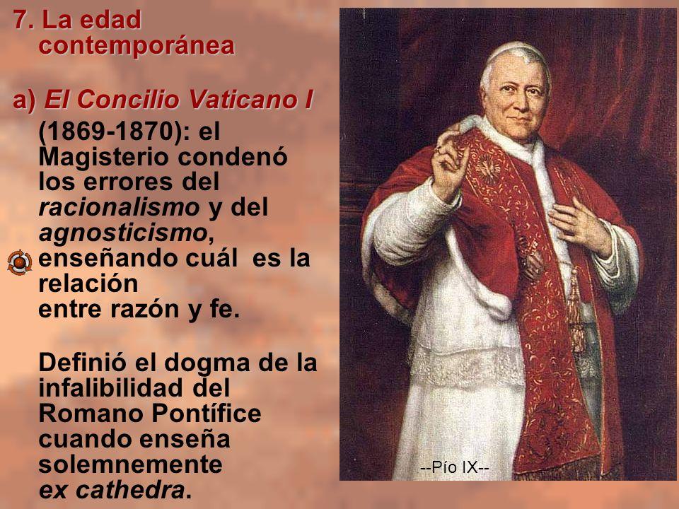 a) El Concilio Vaticano I