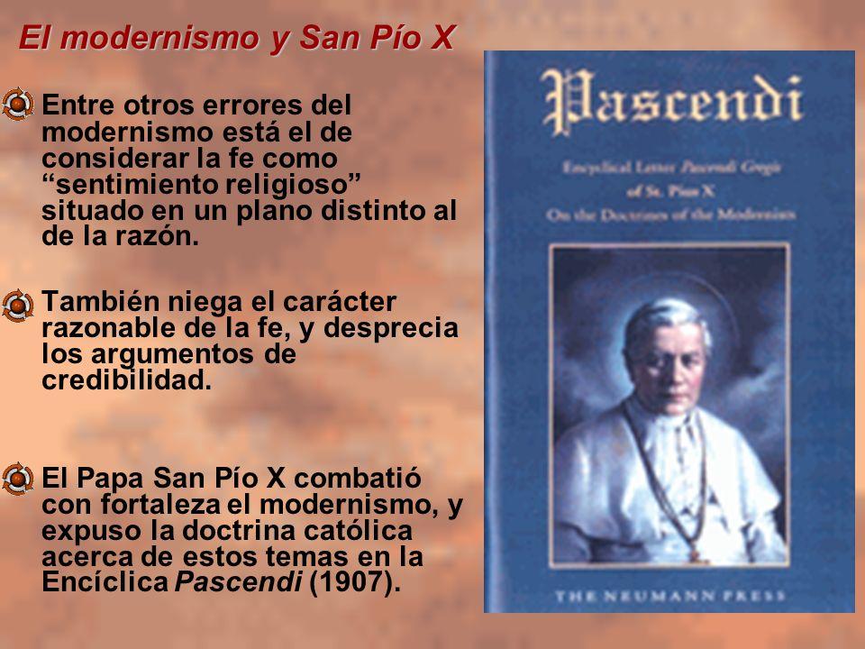El modernismo y San Pío X