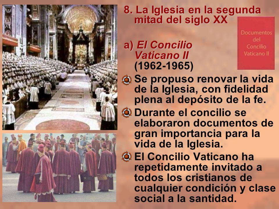 8. La Iglesia en la segunda mitad del siglo XX