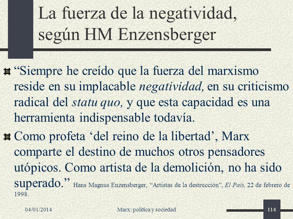 La fuerza de la negatividad, según HM Enzensberger