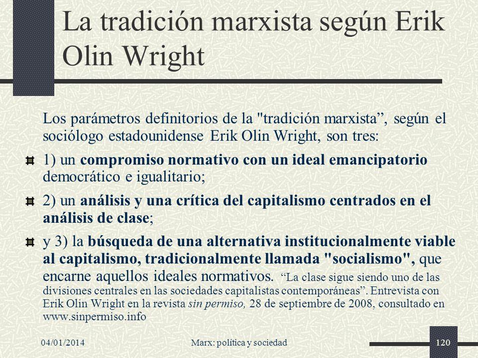 La tradición marxista según Erik Olin Wright