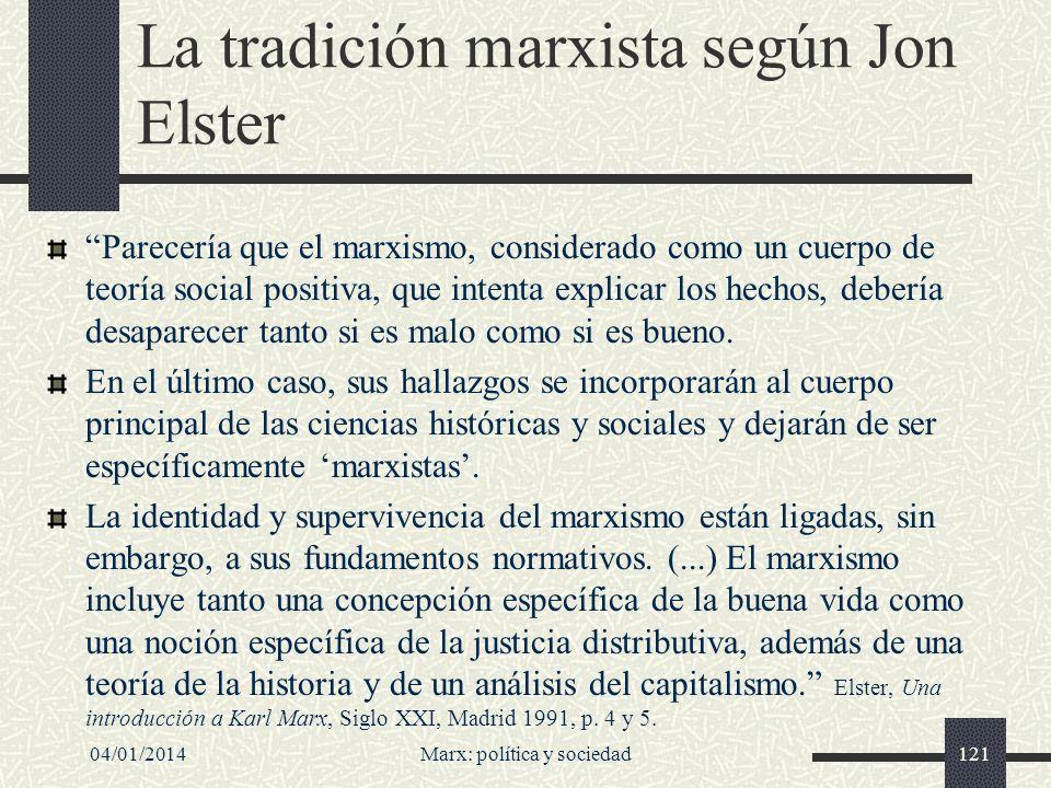 La tradición marxista según Jon Elster