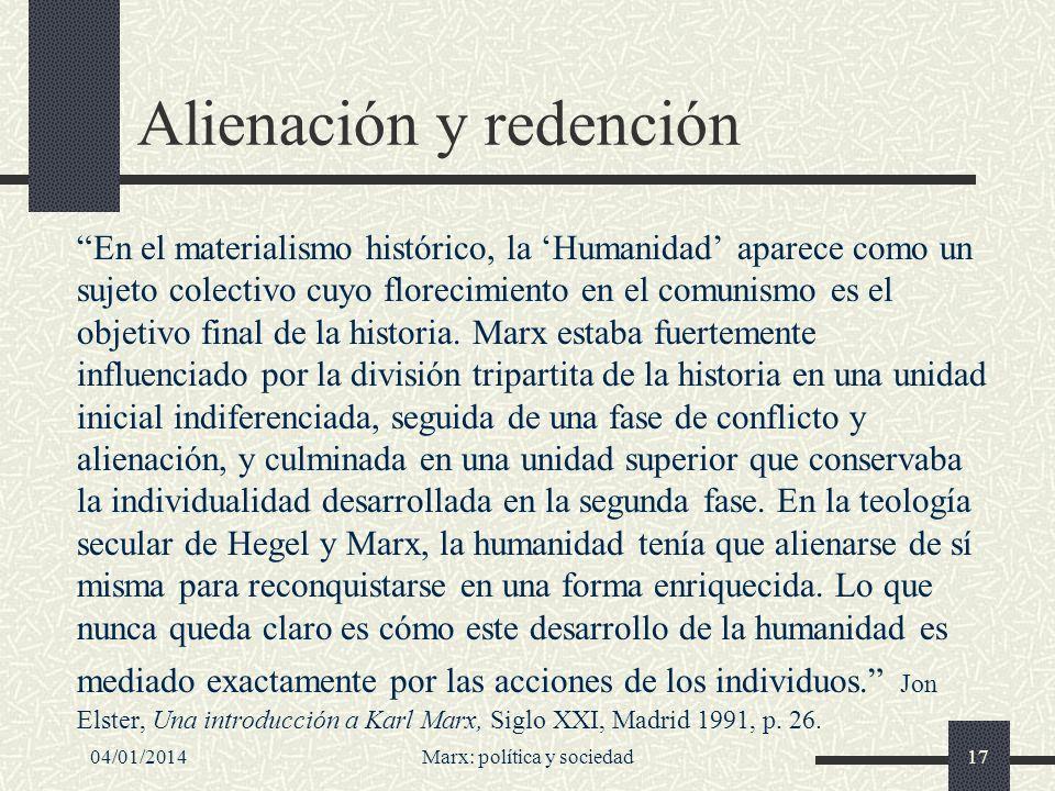 Alienación y redención