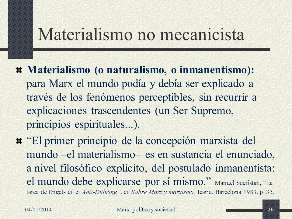 Materialismo no mecanicista