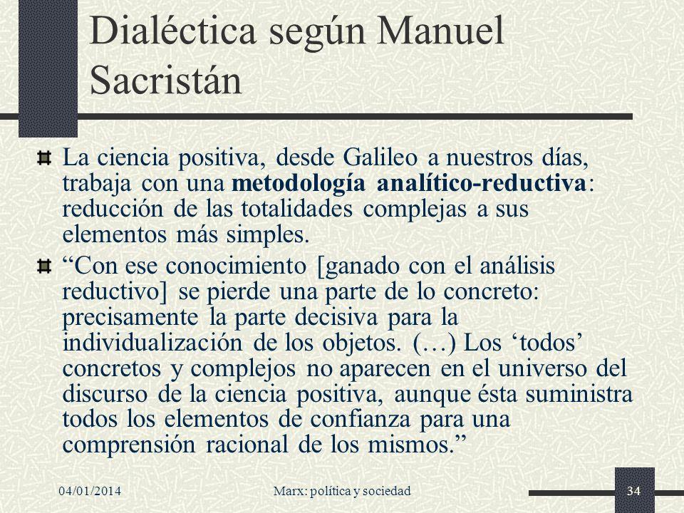 Dialéctica según Manuel Sacristán