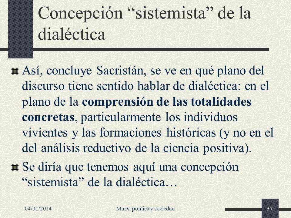 Concepción sistemista de la dialéctica