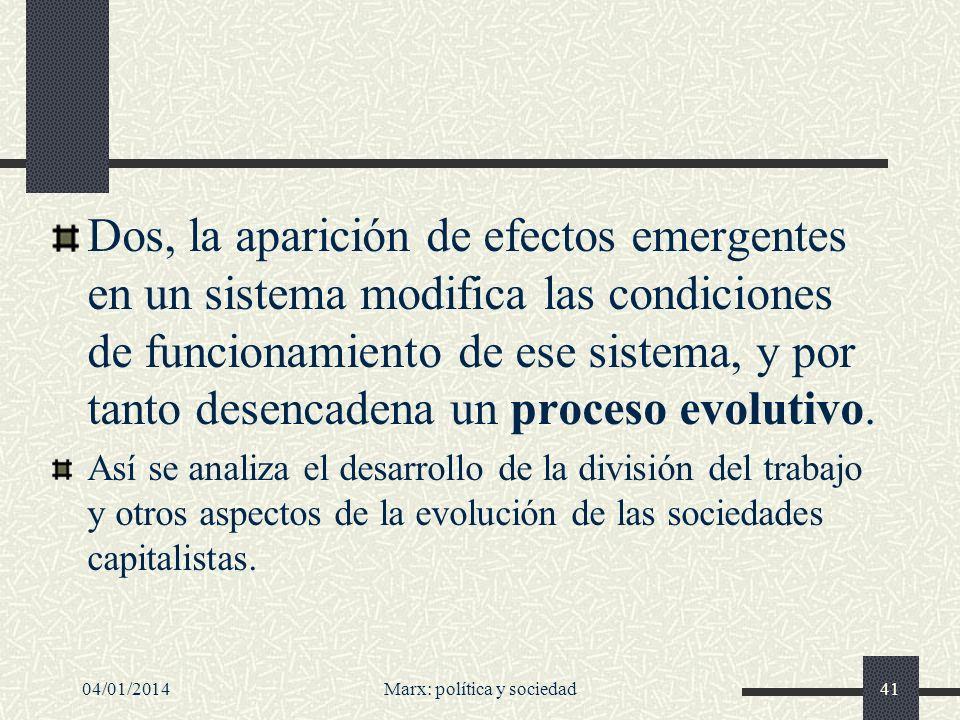Marx: política y sociedad